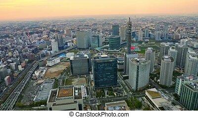 Yokohama skyline night