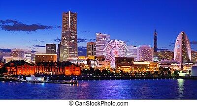 Yokohama Skyline - Skyline of Yokohama, Japan at...