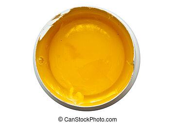 yolk - raw yolk isolated on a white background