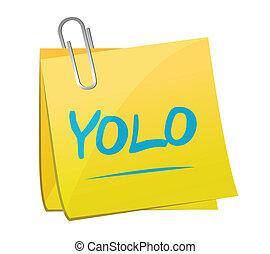 yolo memo post illustration design