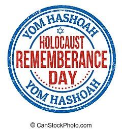 yom, judío, hashoah, estampilla, día de recuerdo