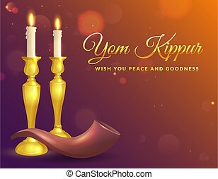 yom kippur, card., saludo