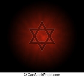Yom Kippur  jewish background with David Star