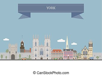 York, England - York, city at the confluence of the rivers...
