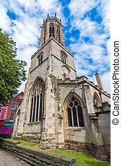 York, England, United Kingdom: Church of All Saints tower