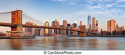 york, manhattan, nuevo, city., contorno