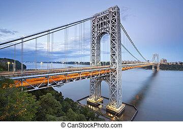 york., nuevo, washington george, puente