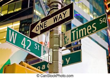 york, señales, nuevo