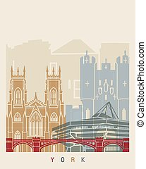 York skyline poster