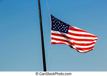 york, stati, unito, città, bandiera, nuovo