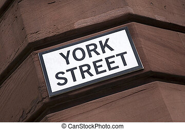 York Street Sign on Brick Wall