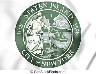 york), usa., (new, eiland, staten, zeehondje, 3d