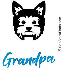 Yorkie Grandpa with silhouette - Yorkie Grandpa silhouette...