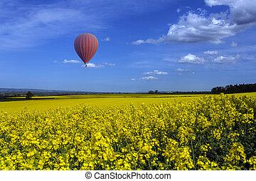 Yorkshire Countryside - Hot Air Balloon