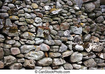 Yorkshire stone wall - Drystone wall, Yorkshire. A...