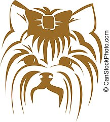 Vector dog Yorkshire terrier icon. Cute Dog