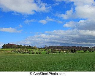 A vista of the Yorkshire Hills, near Ripon