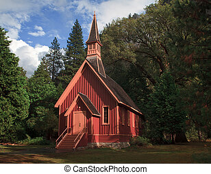 Yosemite Cathedral in the Valley