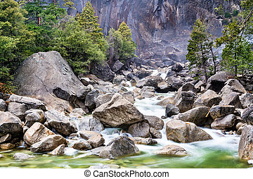 Yosemite Creek in Yosemite National Park, California