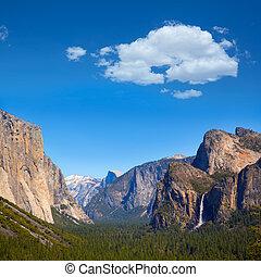 Yosemite el Capitan and Half Dome in California