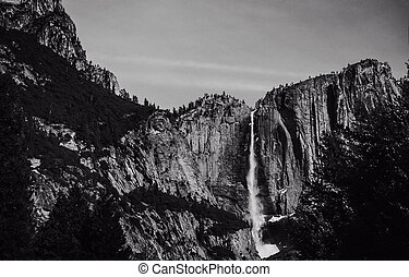 Yosemite Falls in the Early Spring.