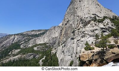 Yosemite Liberty Cap and Nevada Fall