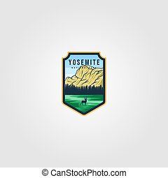 yosemite national park logo outdoor vector illustration design