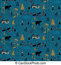 Yosemite National Park pattern design