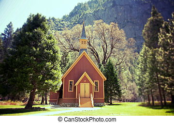 Yosemite Valley Chapel lomo - Yosemite Valley Chapel,...