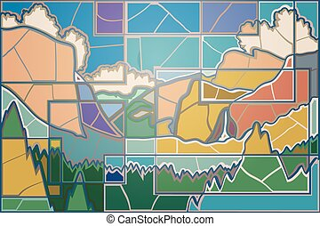 Yosemite valley mosaic