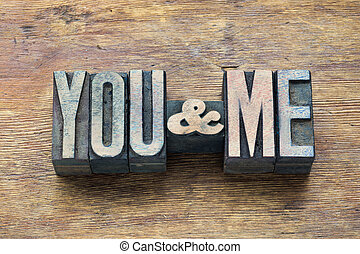 you and me wood