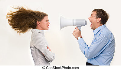 You are fired! - Image of strict boss shouting at...
