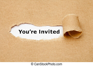You Are Invited Torn Paper Concept