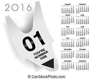 one ticket concept 2016 calendar