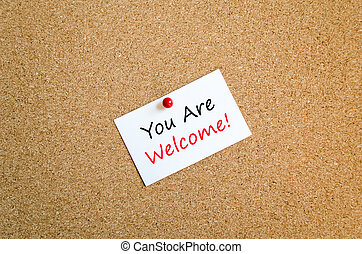 You are welcome text concept