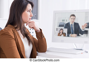You can do business everywhere - Businesswoman in front of ...