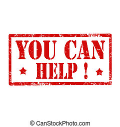 You Can Help-stamp