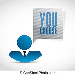 you choose avatar sign illustration design