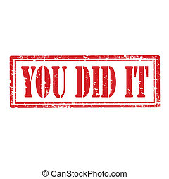 You Did It-stamp