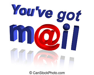 You Have Mail Message with @ Symbol