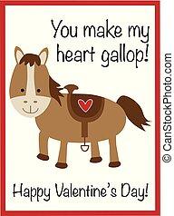 You Make My Heart Gallop Valentine