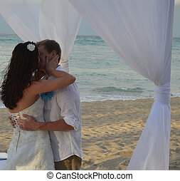 You may kiss the bride - This is a photo of a newlywed...