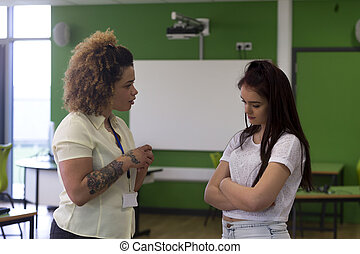 You need to start behaving in lessons