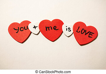You plus me is love