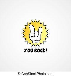 you rock cartoon gesture hand sign