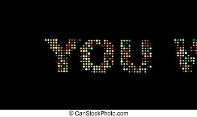 You win Front Text Scrolling Led Wall Panel Display