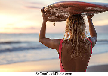 youn, surfista, ao ar livre