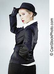 Youn wonam in studio portrait