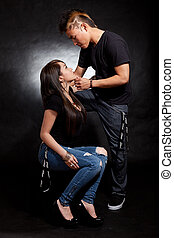 Young adult asian filipino couple