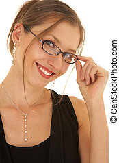 Young adult brunette businesswoman